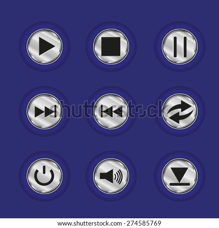 the interface for the player