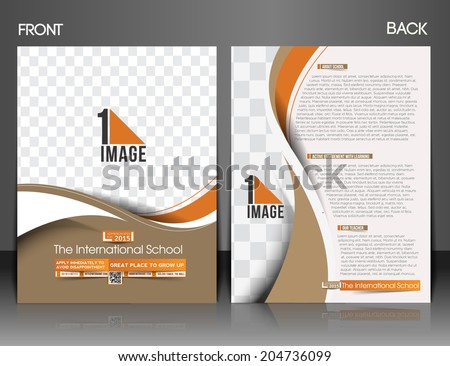 The International School Front & Back Flyer & Poster Template  - stock vector