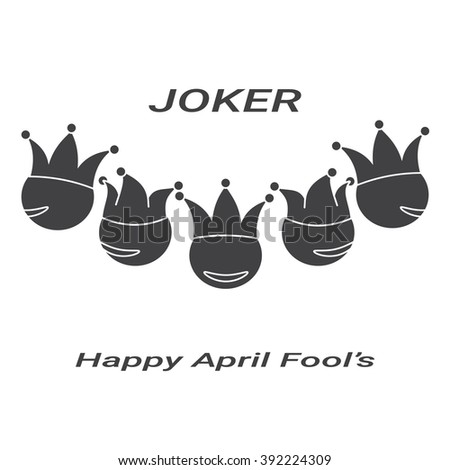 the Joker icons April fool's day - stock vector