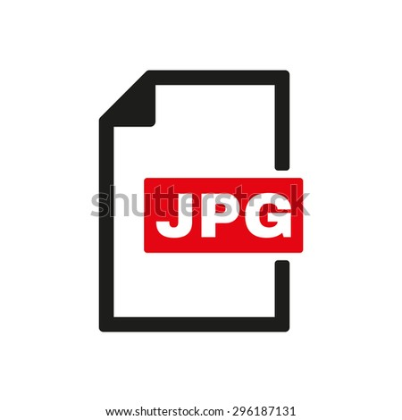 The JPG icon. File format symbol. Flat Vector illustration - stock vector