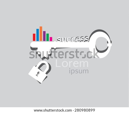 The key to success - stock vector