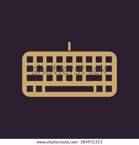 The keyboard icon. Keypad and input, typing, communication symbol. Flat Vector illustration. Button - stock vector