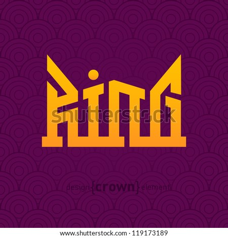 The King Crown vector design element - stock vector