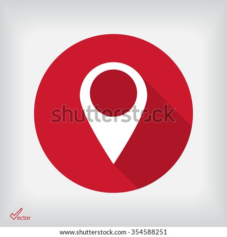 the label on the map icon - stock vector