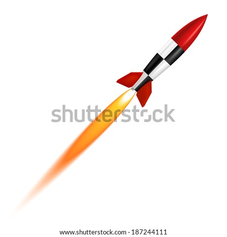 The launch of a white background - stock vector