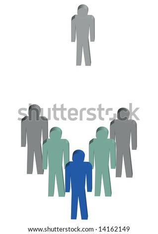 the leader - stock vector