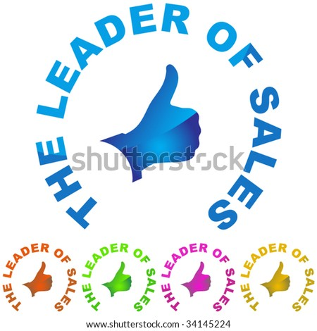 THE LEADER OF SALES. Vector set.