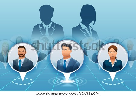The leaders of the business world.Business competition.Business Achievements. Character design.Illustration for idea of business.Approach to communication for business.Graphic design and EPS 10. - stock vector