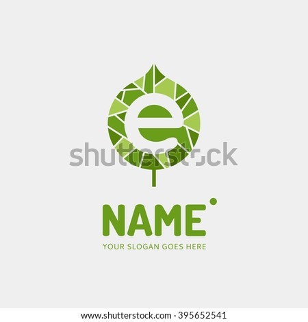 Letter e on background leave logo stock vector 395652541 shutterstock the letter e on a background leave logo illustration design template company thecheapjerseys Image collections