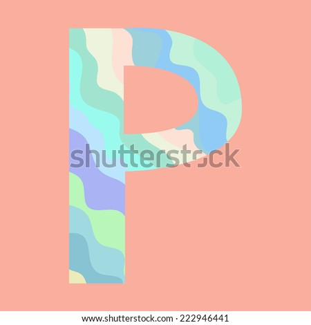 The letter P. Element of alphabet  - stock vector