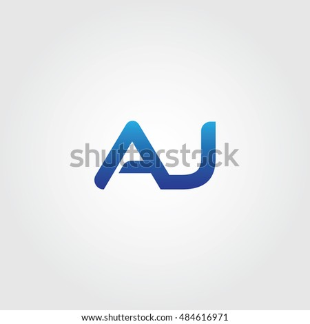 The letters A and J combined Icon Logo Templates. AJ Initial Vector Design Element For Download