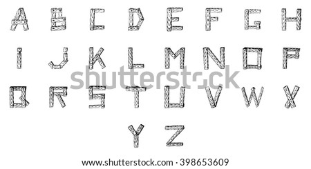 The letters of the Latin alphabet. Vector illustration.