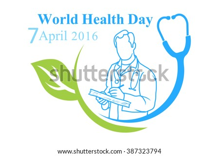 The Logo Of World Health Day With Image A Doctor