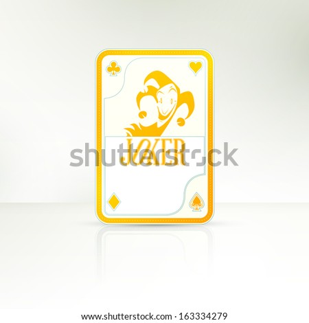 The lucky hand | Joker Playing Card - stock vector