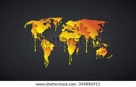 The map of the world made from paint/ World map paint