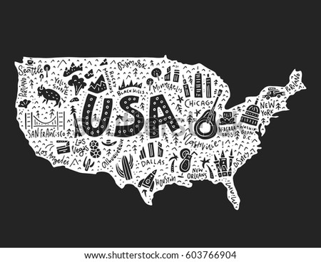 Line Art Usa Map : Map symbols usavector illustration stock photo vector
