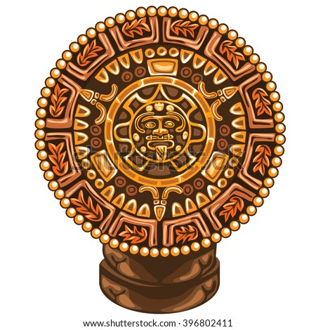 The Mayan calendar. Vector illustration. - stock vector