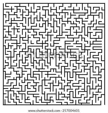 the maze / labyrinth - stock vector