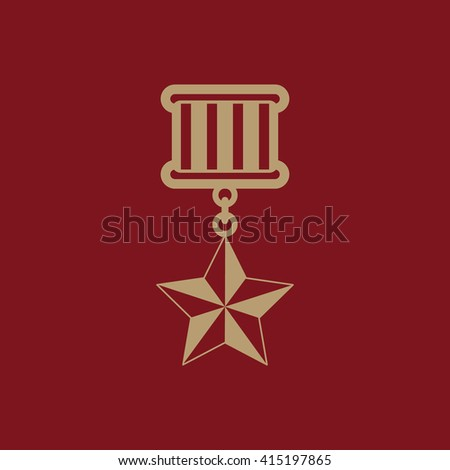 The medal icon. honor symbol. Flat Vector illustration - stock vector
