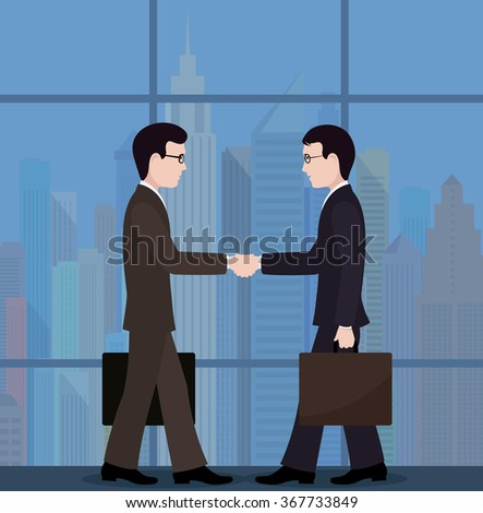 The meeting of businessmen. conclusion of the transaction.