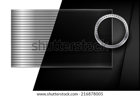 The metallic infographic element on abstract background