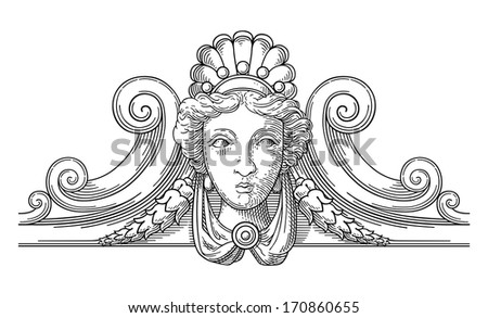 The Muse  - stock vector