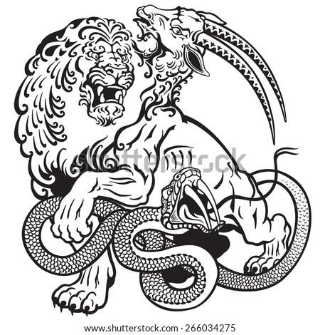 Chimera Greek Mythology Drawing The Mythological Monster