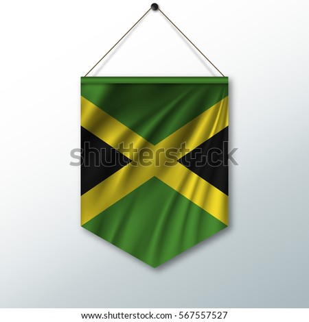 National Flag Jamaica Symbol State Pennant Stock Vector 2018