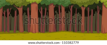 The natural landscape cartoon background vector illustration