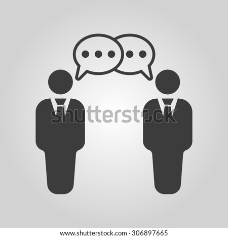 The negotiations icon. Debate and dialog, discussion, conversations symbol. Flat Vector illustration - stock vector