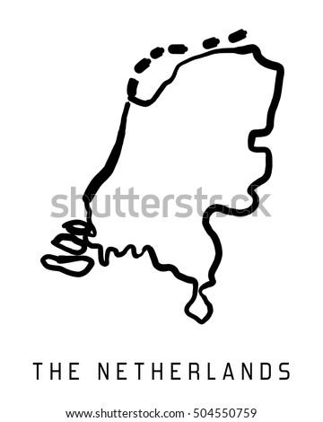 Netherlands Map Stock Images RoyaltyFree Images Vectors