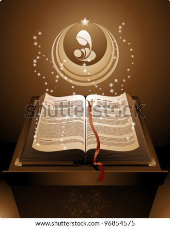 The New Testament in the Holy Bible - stock vector