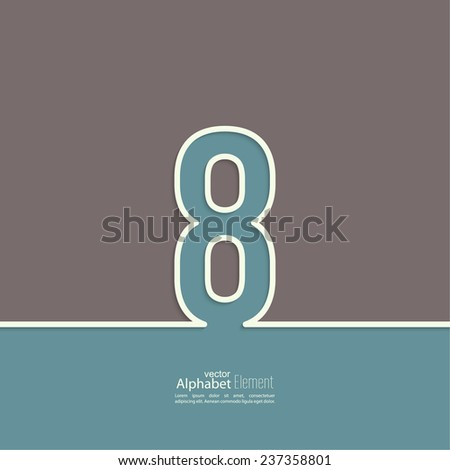 The number 8. eight. abstract background. Outline. Logo or corporate identity - stock vector