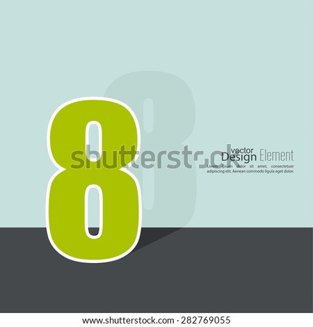 The number 8. eight. abstract background. Outline. Logo or corporate identity. 