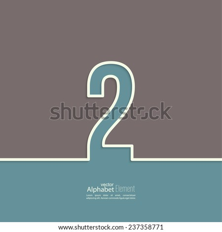 The number 2. two. abstract background. Outline. Logo or corporate identity - stock vector
