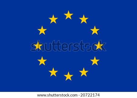The official european union flag - stock vector