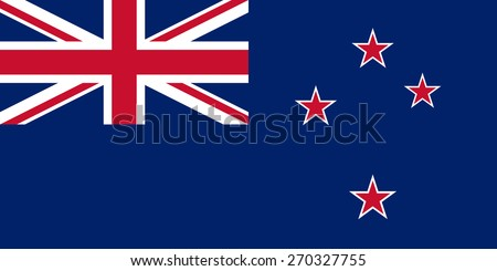 The official flag of the New Zealand in both color and proportions - stock vector