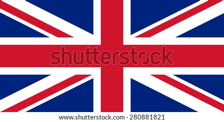 The official flag of the United Kingdom. Right size