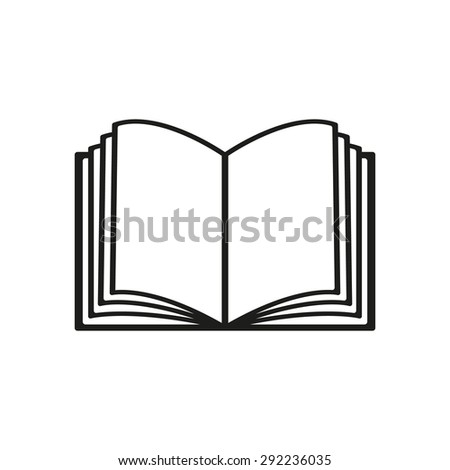 The open book icon. Manual and tutorial, instruction symbol. Flat Vector illustration