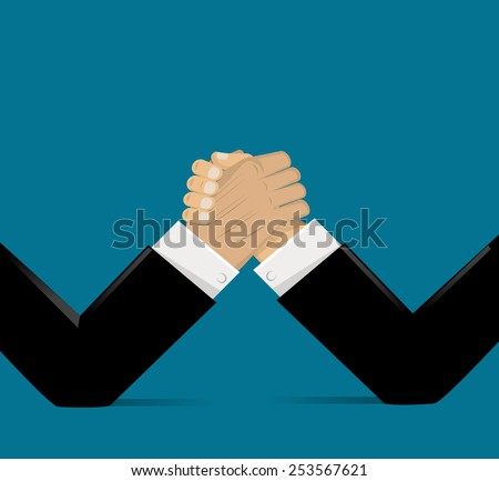 The Opposition of Business Conceptual Illustration Vector.EPS10 - stock vector