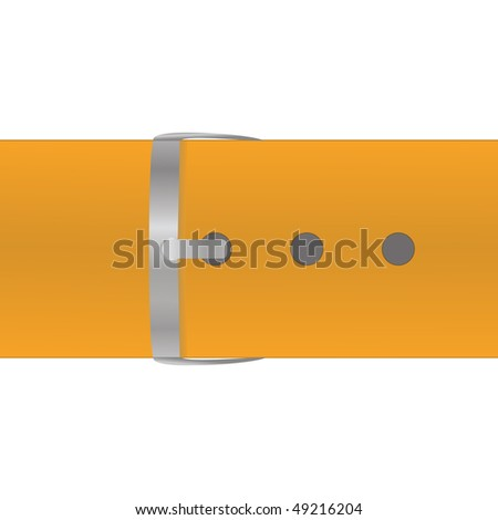 The orange belt isolated on a white background. Vector illustratuion