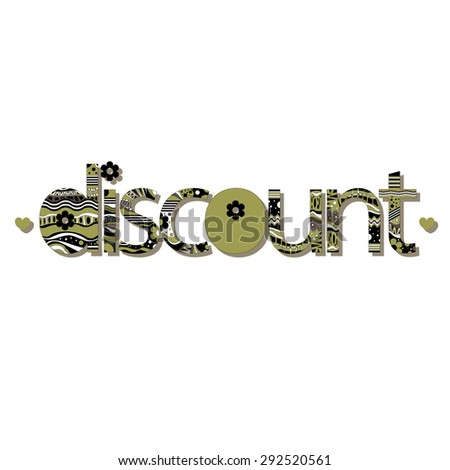 "The original spelling of the word ""discount""."