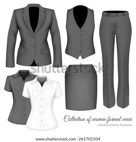 Outfits professional business women formal wear stock vector the outfits for the professional business women formal wear for women vector illustration cheaphphosting Choice Image