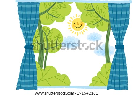 The outside view from window  - stock vector