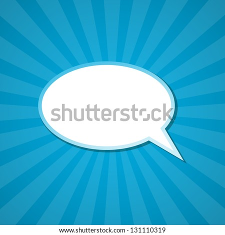 The paper speech bubble background. Vector illustration. - stock vector