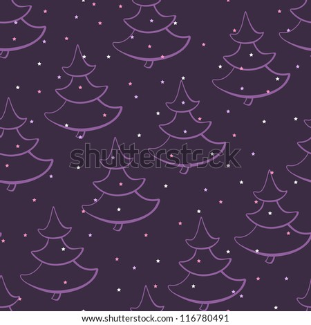 The pattern with Christmas trees and stars