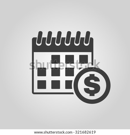 The pay day icon. Tax and payment, dividends symbol. Flat Vector illustration - stock vector