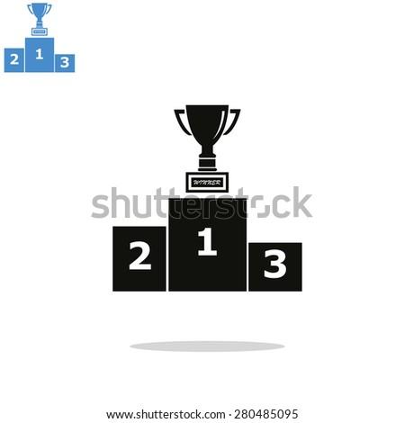 The pedestal icon. Podium symbol. - stock vector