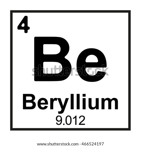 Periodic table element beryllium stock photo photo vector the periodic table element beryllium urtaz