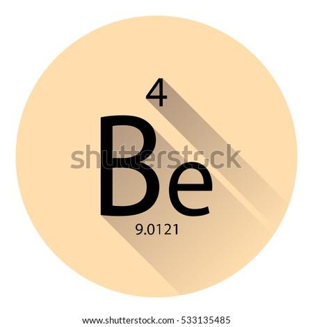 Periodic table element barium basic properties stock vector the periodic table element beryllium with the basic properties flat style with long shadow urtaz Gallery